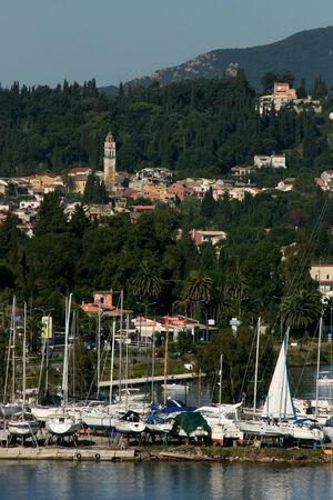 kerkyra: Kerkyra yacht yard and town, Corfu, Greece Editorial