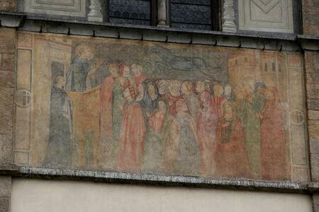 bas relief: Bas relief on Loggia del Bigallo, Florence, Italy Editorial