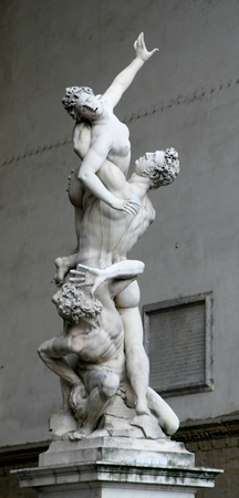 rapture: The Rapture of the Sabina statue, Florence, Italy