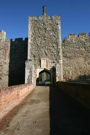 suffolk: Entrance to Framlingham Castle, Suffolk, England