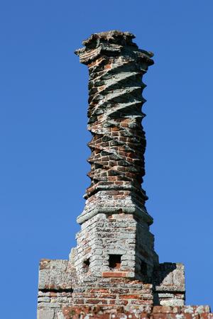 tudor: Tudor chimney at Framlingham Castle, Suffolk, England Editorial