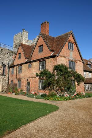 suffolk: Poorhouse inside the walls of Framlingham Castle, Suffolk, England