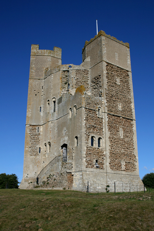 norman castle: The Keep of King Henry ll known as Orford Castle, Orford, Suffolk, England