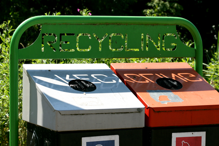 essex: Waste recycling collection point, Chelmsford, Essex, England