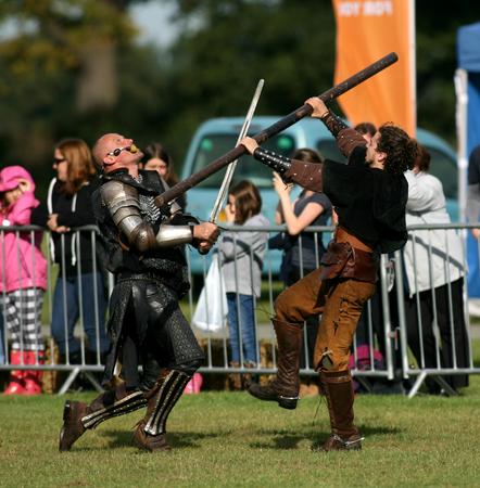 stampede: Stampede Stunt Company, October 2014, Ipswich, Suffolk, England Editorial