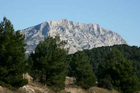 The Montagne Ste Victoire near Aix en Provence, France