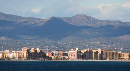coastline: Buildings along the coastline of Valencia, Spain
