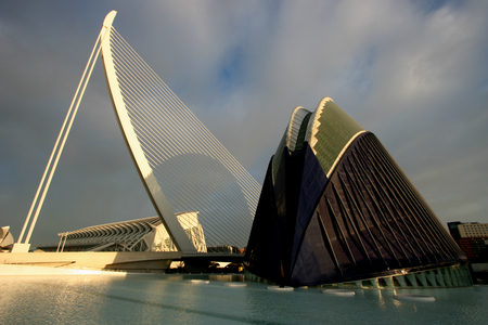 sciences: Early morning at The City of Arts and Sciences, Valencia, Spain