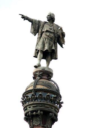rambla: Monument of Christopher Columbus at end of La Rambla, Barcelona, Spain Stock Photo