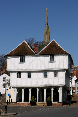 guildhall: Thaxted Guildhall built in the 15th century, Thaxted, Essex, England