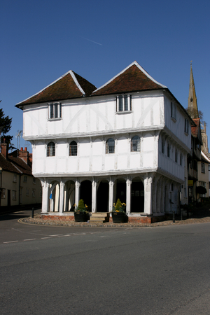 15th century: Thaxted Guildhall built in the 15th century, Thaxted, Essex, England