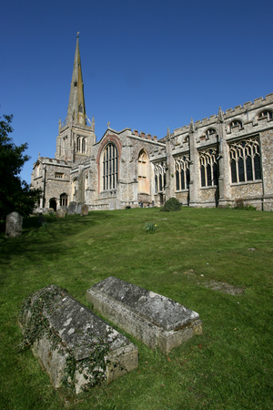 essex: Thaxted Parish Church completed in 1510,Thaxted, Essex, England