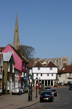 town centre: Town centre, Thaxted, Essex, England Editorial