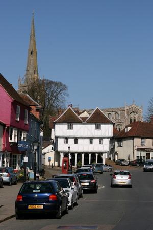 essex: Town centre, Thaxted, Essex, England Editorial