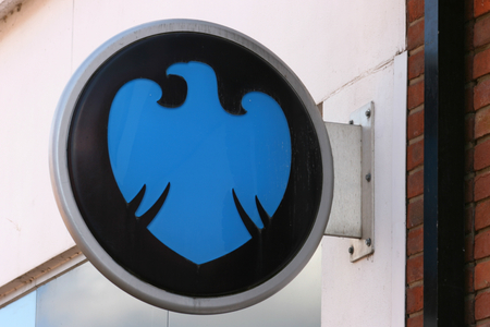 essex: Barclays Bank sign, High Street, Chelmsford, Essex, England Editorial