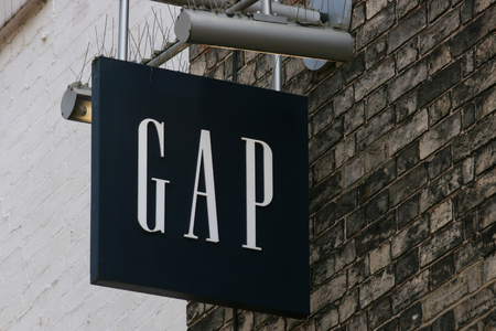 essex: GAP clothes shop sign, High Street, Chelmsford, Essex, England Editorial