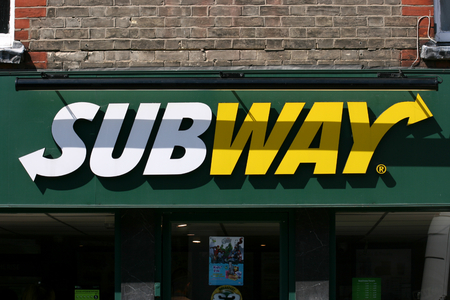 Subway sandwich shop sign Newland Street Witham Essex England