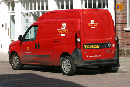 royal mail: Royal Mail postal services van, Braintree, Essex, England