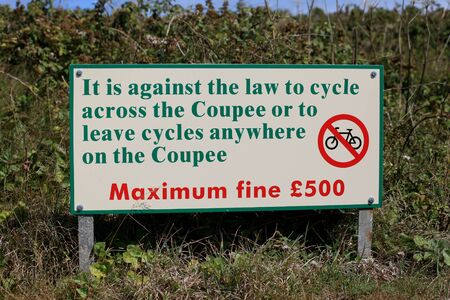 sark: Fine signage on Sark in the Channel Islands
