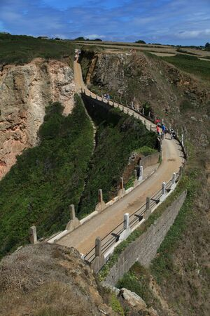 sark: La Coupee joins Little Sark to the Greater Sark in the Channel Islands