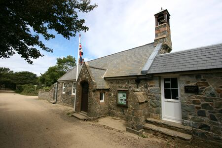 Meeting place for Chief Pleas and the Court of the Seneschal on Sark in the Channel Islands Stock Photo