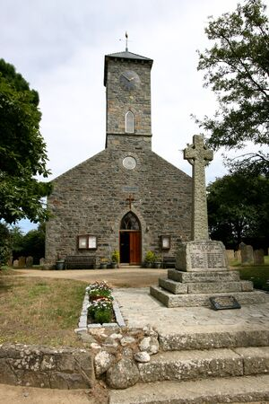 peters: St Peters Church on Sark in the Channel Islands