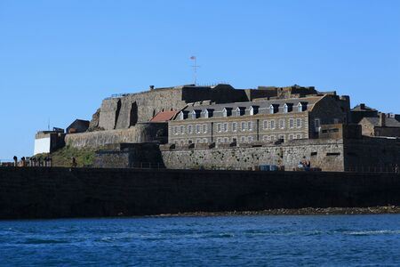 guernsey: Castle Cornet in St Perter Port on Guernsey in the Channel Islands Editorial