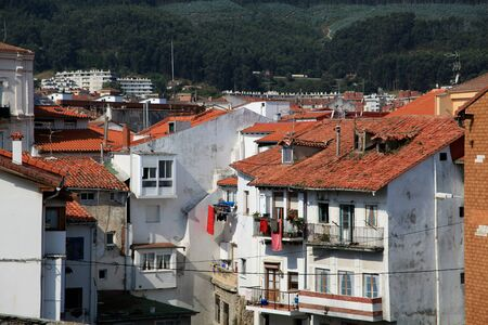 rooftops: The rooftops of houses overlooking the Port of Castro Urdiales, Spain