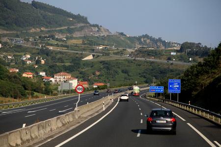 castro: A8 motorway between Bilbao and Castro Urdiales in Spain