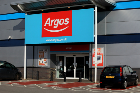 Argos store entrance, Harlow, Essex Editorial