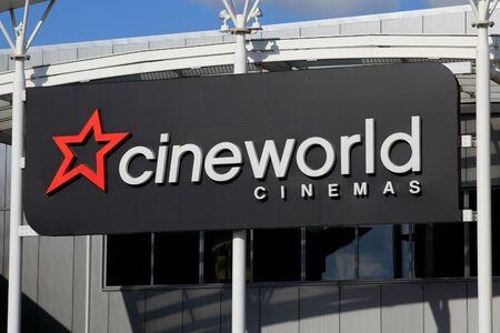 Cineworld cinema sign, Harlow, Essex