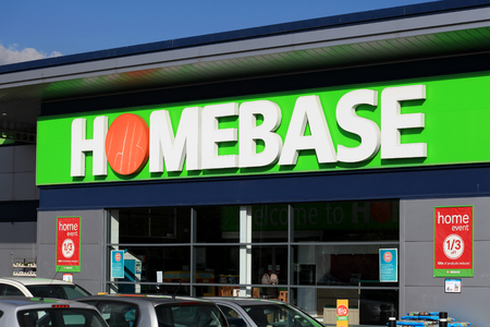 Homebase store sign, Harlow, Essex