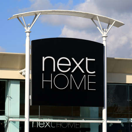 home store: Next Home store sign, Harlow, Essex