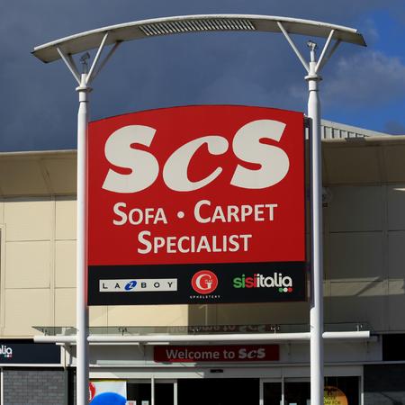 store: SCS store sign, Harlow, Essex