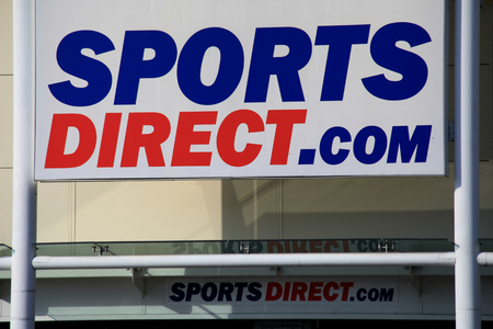 essex: Sports Direct store sign, Harlow, Essex