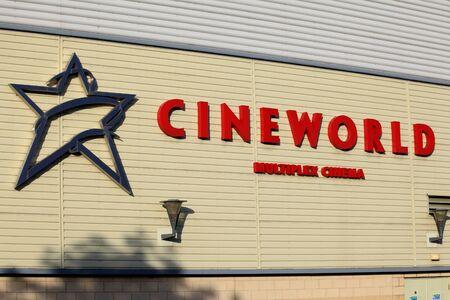 Cineworld cimema sign, Braintree, Essex Sajtókép