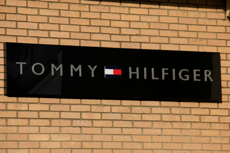 shop sign: Tommy Hilfiger shop sign, Braintree, Essex Editorial