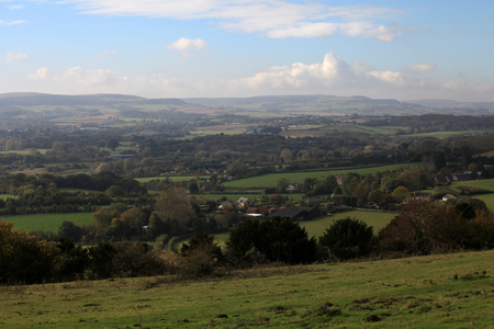 scenary: Looking north west from the Brading Downs, Isle of Wight