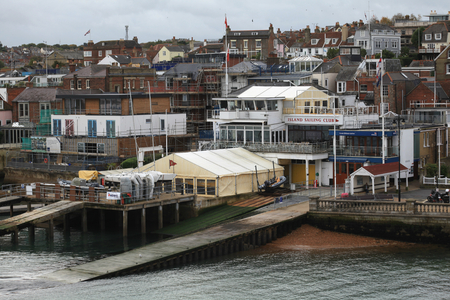 isle: Lallows boat yard, Cowes, Isle of Wight Editorial