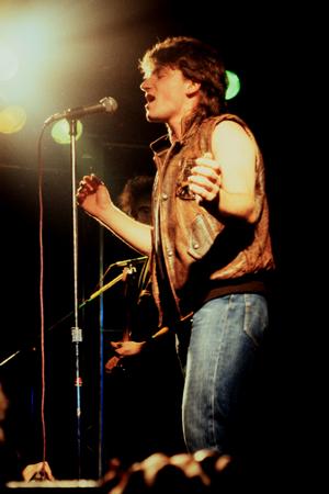 bono: Norwich, England,  October 1st, 1981 - U2 concert at UEA