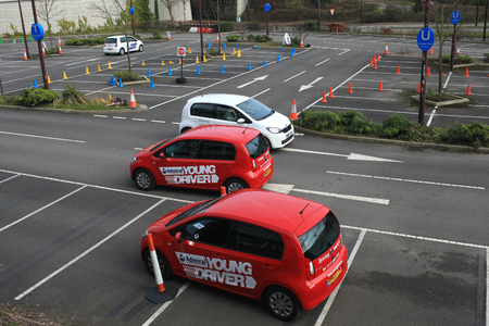 11: Young Driver driving lessons for 11 to 17 year olds held at Bluewater, Kent, England