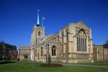 Chelmsford Cathedral, Chelmsford, Essex, England 스톡 콘텐츠