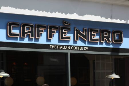 essex: Cafee Nero coffee shop sign, High Street, Brentwood, Essex