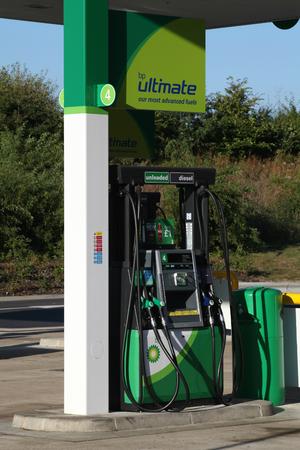 bp: BP petrol station fuel pump, Braintree, Essex