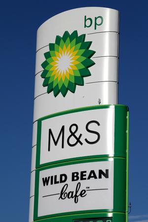 bp: BP petrol station sign, Braintree, Essex Editorial