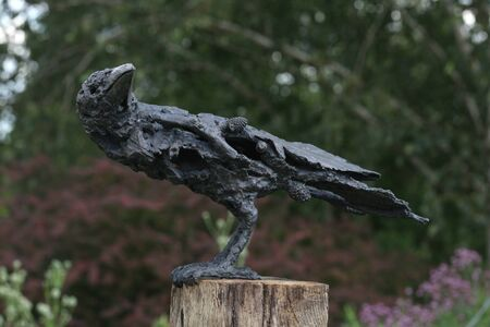 horticultural: Bird, Garden sculpture, RHS Hyde Hall, Chelmsford, Essex Stock Photo