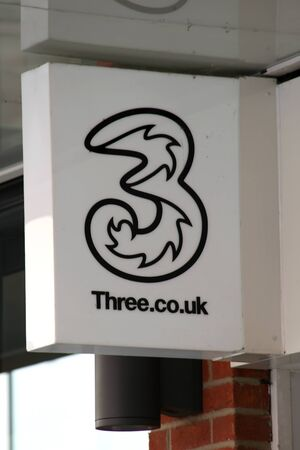 shop sign: Three shop sign, Colchester, Essex