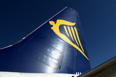 Ryanair Boeing 737 aircraft tail logo Editorial