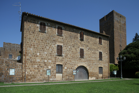 tuscania: Palace and Torre di Lavello, Tuscania, Italy