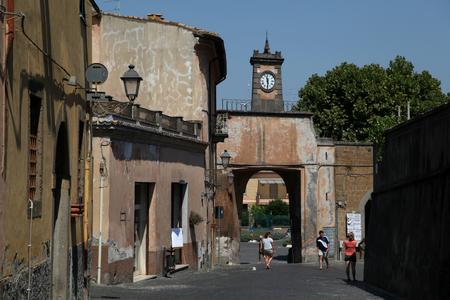 tuscania: Porta del Poggio is one of the city gates into Tuscania, Italy